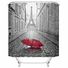 Ormis Eiffel Tower from The Street of Paris Pattern Shower Curtain 72X72 inches