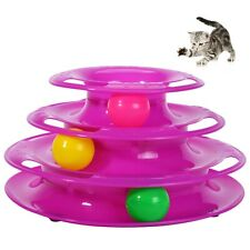 New listing Pet Zone Busy Ball Three Tier Cat Tower Interactive Cat Toy.