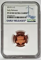 2019 S 1C Penny Lincoln NGC PF69 RD Ultra Cameo - Early Releases -