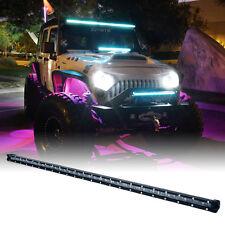 "Xprite Single Row C6 Series 180W Spot 38"" LED Light Bar with Blue Back Light"