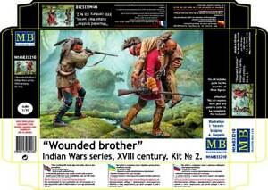 Wounded brother. Indian Wars series, XVIII century Kit No 2 1/35 MasterBox 35210
