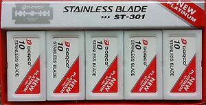 1000 DORCO ST301 Double Edge Blades Platinum Plus PRIORITY MAIL