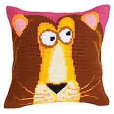 Collection D'Art Cross Stitch Cushion Kit: King Leon CD5180