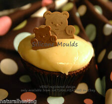 TEDDY LOVES ME Bear Chocolate Candy Mold Cupcake Silicone Bakeware Mould Fondant