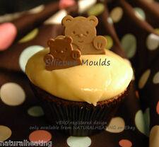 Peluche Me Ama Oso De Chocolate Candy Molde Cupcake Bakeware del silicón Molde Fondant