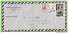 Sur Enveloppe VIA AIR MAIL - 3 timbres JAPON
