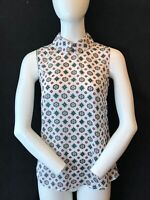 LAURA ASHLEY Women's Silk Feel Rear Button Sleeveless Top Blouse UK 8