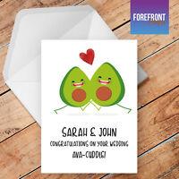 Personalised Avacado wedding card funny/humour/joke greeting card - Birthday