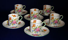 SHELLEY DEMITASSE COFFEE SET CUP SAUCER DUOS 12 PIECES