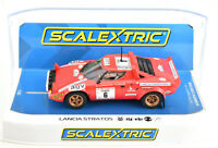 "Scalextric ""Lancia Chardonnet"" Lancia Stratos W/ Lights 1/32 Slot Car C3930"