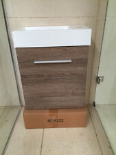 NEW DESIGN 400MM SMALL WALL HUNG BATHROOM VANITY WALNUT WOODGRAIN FINISH.