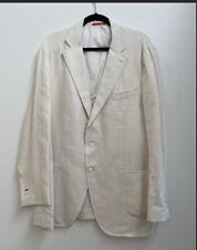 "ISAIA Men's Silk,Linen & Wool Single-Breasted ""Dustin"" Blazer Jacket Ivory 58 8R"
