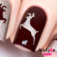 Deer Stencils for Nails, Christmas Nail Stickers, Nail Art, Nail Vinyls