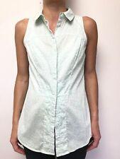 CUE mint white animal print sleeveless shirt top sz 8