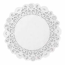 "8"" WHITE ROUND PAPER DOILIES LOT 50 WEDDING CAKE DOILEY DOYLIES CHRISTMAS PASTRY"
