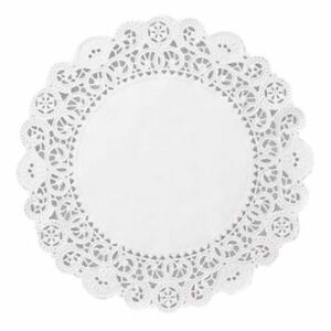 """8"""" WHITE ROUND PAPER DOILIES LOT 50 WEDDING CAKE DOILEY DOYLIES CHRISTMAS PASTRY"""