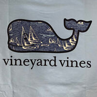 Vineyard Vines Men's S/S Pocket T-shirt Sailing Whale Fill Blue Sz L- NEW TAGS