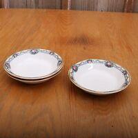 3 Vintage French Saxon China Floral Garland Pattern Berry Bowls