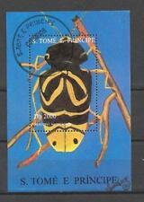 Animaux Insectes Saint Thomas et Prince (60) bloc oblitéré