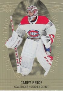 CAREY PRICE NO:GE-3 GOLD ETCHINGS  in UPPER DECK TIM HORTONS 2019-20    a