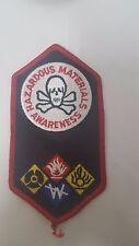 """Hazardous Material Awareness Patch 5-1/2X3"""""""