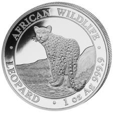 African Wildlife Leopard 1 OZ Silber Silver Argent 2018 Somalia Somalie