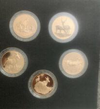 Franklin Mint 5 Bronze Big Game Medals East Africa Coins Impala Antelope Gazelle