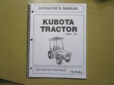 Kubota B21 B 21 Tractor Owners Amp Maintenance Manual