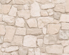Sand Stone Wall Pattern Rustic Brick Textured Wallpaper 692429 AS Creation