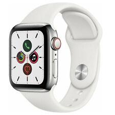 Reloj de Apple serie 5 44mm Gps Celular Banda de Acero Inoxidable Plateado Blanco Sport