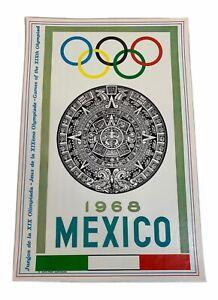 "1968 Mexico/1972 Munich Olympics 2 Sided Antik Print  17 1/2"" X 11 1/2"""