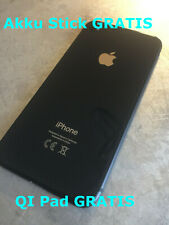 iPhone 8 Schwarz Backcover Rahmen Gehäuse Rückseite Akkudeckel,Glas inkl. QI Pad