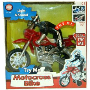 Motocross Light & Sound Die Cast Kids Toy Motorbike Motorcycle Bike with Figure