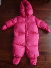 460ed07dd Ralph Lauren Polo Infant Baby Girls Down Snowsuit Bunting Hooded Pink 6m