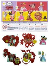 KINDER Surprise Minnie Mouse Limited Edition SERIE COMPLETA India 2016 MEGA RARE