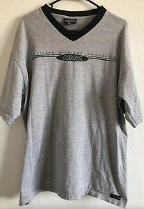 VTG.90's JANSPORT NMU NORTHERN MICHIGAN UNIVERSITY Made In USA V-NECK T-shirt XL