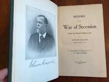 Rare 1910 Memoirs of the War of Secession from the Original Manuscripts, Hagood