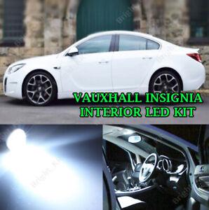 Fits VAUXHALL INSIGNIA 2008+ ERROR FREE WHITE INTERIOR FULL LED BULBS LIGHT SET