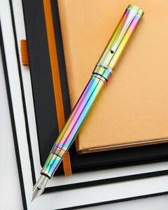 Conklin Duragraph Fountain Pen in Rainbow Special Edition Fine Point New/Box
