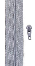 Gp 1,40 €/ m, 5 Meter Reißverschluss hell grau Spirale 3 mm + 10 Zipper YKK