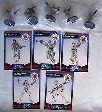 Star Wars Miniatures CLONE WARS (WOTC) REPUBLIC Figures x5 - New & Sealed Lot1