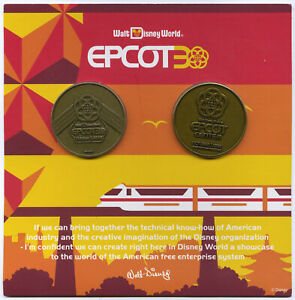 Disney Epcot Center 30th Anniversary Cast Member Coin Set Collection 1982 2012