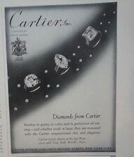 1939 Cartier Diamond Rings Vintage Jewelry Original Ad