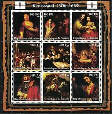 GUINEA: 2002 S/S MNH PAINTINGS BY REMBRANDT
