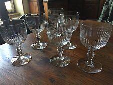 6 verres à eau en cristal taillé Baccarat Renaissance pied balustre