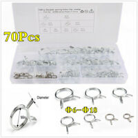 Motorcycle Φ6-Φ18 Stainless Steel Fuel Line Hose Double Wire Spring Tube Clamps