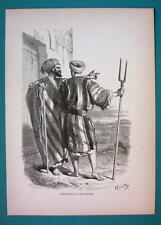 ISRAEL Inhabitants of Bethlehem - 1866 Antique Print