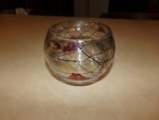 Partylite Retired Stained Glass Mosaic Votive Candle Holder Bowl