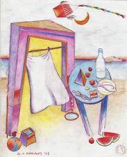 """Dimitris C. Milionis """"AEGEAN FISH"""" Pencil Drawing Transparent Paper 2003 Greek"""