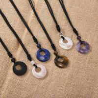 Natural Crystal Lucky Blessing Engraved Beads Stone Pendant Necklace Jewelry Hot